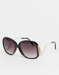 Jeepers Peepers Oversized Sunglasses Black
