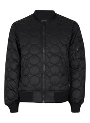 Converse Black Bubble Quilted Bomber Jacket