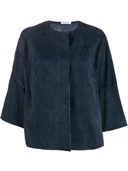 Salvatore Santoro Collarless Jacket Blue