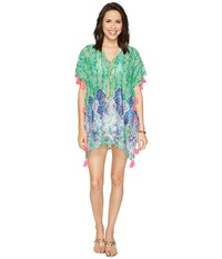 Lilly Pulitzer Castilla Swim Cover Up Tunic Toucan Green Costa Verde Engineered Blouse