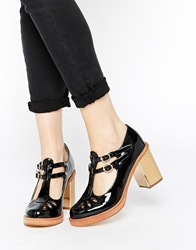 Truffle Collection Anya T Bar Heeled Shoes Black