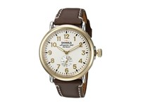 Shinola Detroit The Runwell 41Mm 10000160 Pearl White Roasted Coffee Watches Brown