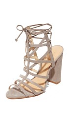 Schutz Loriana Caged Sandals Mouse