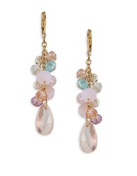 Carolee Garden Party Simulated Pearls Cluster Drop Earrings Gold