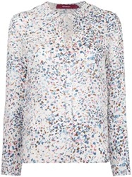 Sies Marjan Printed Blouse Women Silk Viscose 2 White