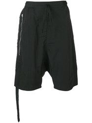 Unravel Project Dropped Crotch Shorts Black