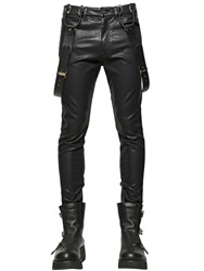 Ktz 15.5Cm Faux Leather Pants Black