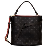 Nica Corina Medium Grab Bag Black Polka
