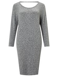 Numph Laressa Cut Out Back Dress Grey Melange