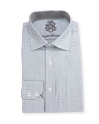 English Laundry Cotton Printed Dress Shirt Gray