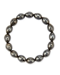 Molten Black Rhodium Bead Stretch Bracelet Michael Aram