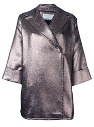 Gianluca Capannolo Metallic Grey 'Emma' Coat