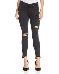Black Orchid Miranda High Rise Distressed Skinny Jeans In Night Rider