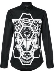 Philipp Plein Tiger Print Shirt Black