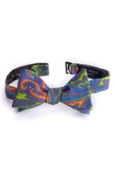 Ted Baker Men's London Charles Paisley Wool Bow Tie Lime