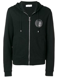 Versace Collection Logo Hooded Track Jacket Black
