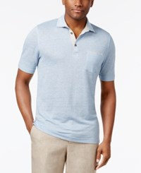 Tasso Elba Men's Linen Pique Polo Only At Macy's Free Blue