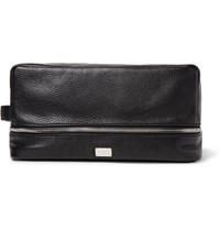 Dolce And Gabbana Full Grain Leather Wash Bag Black