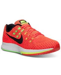Nike Men's Zoom Structure 19 Running Sneakers From Finish Line Bright Crimson Black Volt