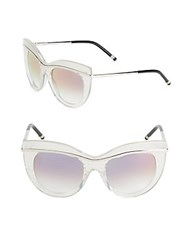 Boucheron 52Mm Butterfly Sunglasses Clear