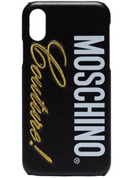 Moschino Black Couture Logo Iphone X Case
