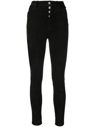 Unravel Project Skinny Suede Jeans Black