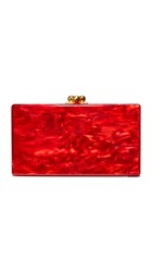 Edie Parker Jean Solid Clutch Red Pearlescent