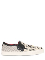 Moa Master Of Arts Mickey Mouse Printed Slip On Sneakers