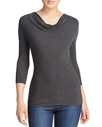 Majestic Filatures Cowl Neck Tee Anthracite