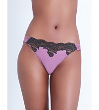 Myla Heritage Silk Stretch Silk Satin Mini Briefs Mauve Slate