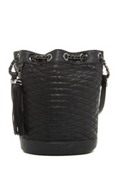 Bcbgmaxazria Florance Goat Leather Quilted Handbag Black