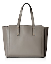 Ivanka Trump Soho Solutions Leather Work Tote Stone Gray Gold