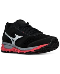 Mizuno Women's Synchro Mx Running Sneakers From Finish Line Black White Pink
