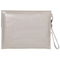 Modalu Erin Leather Clutch Grey