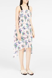 Msgm Women S Floral Print Waterfall Dress Boutique1 Pink