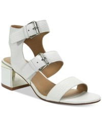Tahari Dalton Strappy Gladiator Sandals Women's Shoes White