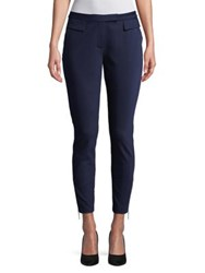 Ivanka Trump Cropped Compression Trousers Navy