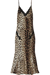 Boutique Moschino Leopard Print Silk Blend Maxi Dress Animal Print