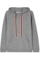 Chinti And Parker Ringmaster Cashmere Wool Blend Hoodie Gray
