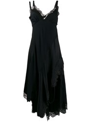 Monse Lace Embroidered Flared Dress Black