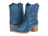 Massimo Matteo Low Cowboy Boot Blue Women's Boots
