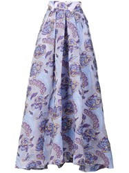 Temperley London Elsa Skirt Silk Polyamide Polyester Metal Blue