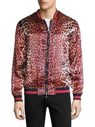 3.1 Phillip Lim Reversible Leopard Souvenir Jacket Blue Orange