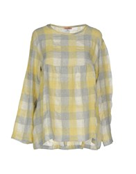 Rose' A Pois Shirts Blouses Yellow