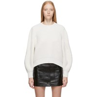 Givenchy White Wool And Cashmere Balloon Sleeve Sweater