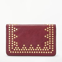And Or Isabella Leather Card Holder Burgundy