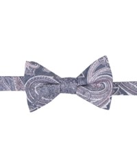 Ryan Seacrest Distinction Men's Wakeview Paisley Pre Tied Bow Tie Only At Macy's Navy Pink