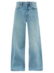 Raey Stride Wide Leg Jeans Light Blue