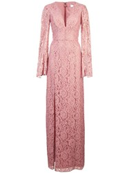 Zac Posen Viv Gown Pink And Purple