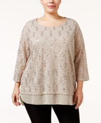 Jm Collection Plus Size Embellished Lace Tunic Only At Macy's Pure Cashmere